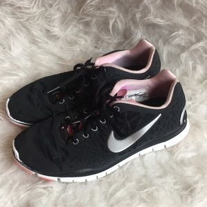 Nike Free TR Fit 3 black and pink sneakers…